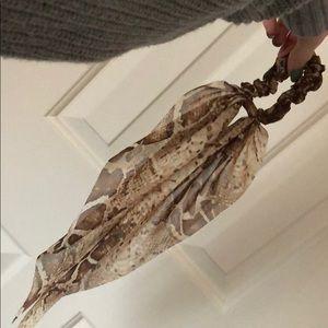 Snakeskin scrunchie